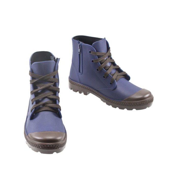 56fc98579 Резиновые ботинки на каблуке 802-3-blue – купить в Москве в интернет ...